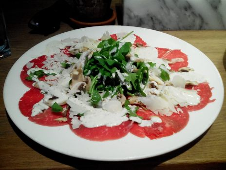 This was my appetizer. Mm, carpaccio.
