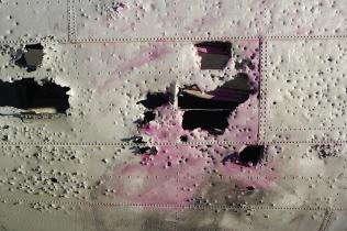 Broken plane graffiti