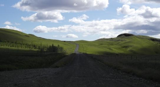The road near Fjaðrárgljúfur