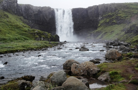 Random waterfall on the way to Akureyri