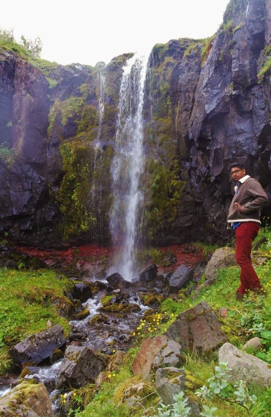 Waterfall near Tvísöngur, Seyðisfjörður