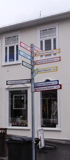 Akureyri signpost