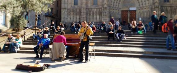 Outside market near Catedral Barcelona